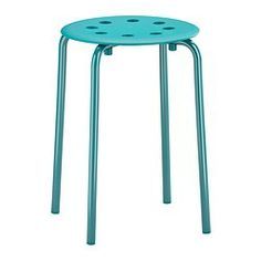 MARIUS Stool - blue - IKEA: to declutter my classroom, I want to use these at my guided reading table. They'll slide right under and be less annoying than the mix of chairs I have now