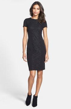 Cynthia Steffe 'Jennie' Lace Panel Sheath Dress | Nordstrom $179