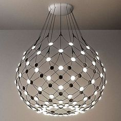 Modern Led Ceiling Lights Elegant Luceplan Mesh Lamp by Francisco Led Pendant Lights, Pendant Lamp, Pendant Lighting, Chandelier, Luce Plan, Blitz Design, Modern Lighting Design, Italian Lighting, Light Design
