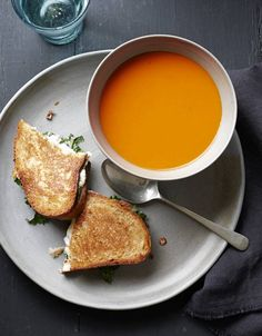 Steven Redzikowski's Recipe for Broccoli Rabe Grilled Cheese and Tomato-Pepper Soup