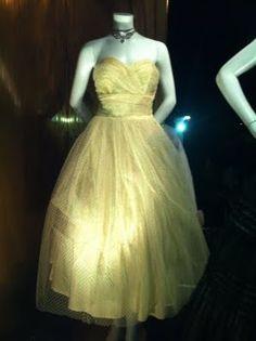 pale-yellow vintage dress