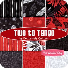 Two to Tango Fat Quarter Bundle Exclusively Quilters Fabrics