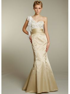 White and Gold Bridesmaid dress