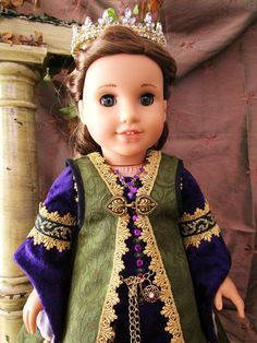 Renaissance Royal Gown For American Girl Doll by HiddenDoorStudio
