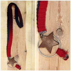 Collar ganchillo degradado rojo