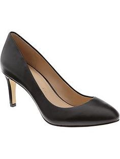 Ivonne Pump by Banana Republic are the most comfortable, chic, affordable black leather pumps I've ever tried on.  Highly recommend these for women who suffer from having wide feet.
