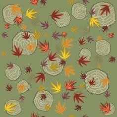 Stoffmuster Blätter