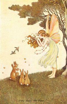 Ida Rentoul Outhwaite Elves and Fairies Postcards Magical Creatures, Fantasy Creatures, Fairy Land, Fairy Tales, Elves And Fairies, Vintage Fairies, Fairytale Art, Flower Fairies, New Wall