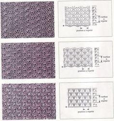 Схема плотного вязания крючком