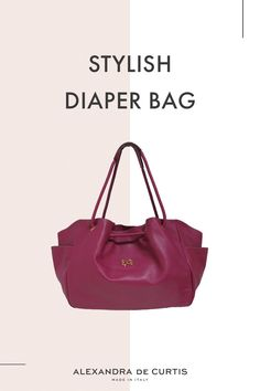 Are you looking for a stylish leather diaper bag? Click through to check out this designer diaper bag handmade in Italy! Italian Leather Handbags, Designer Leather Handbags, Leather Diaper Bags, Italian Street, Red Handbag, How To Make Handbags, One Bag, Italian Fashion, Leather Design