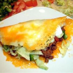 """HCG Diet (P3) Beef Tacos w/ Provolone """"Shells"""""""