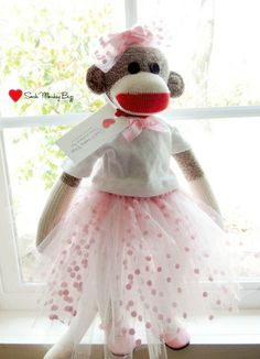 Ballerina Doll Sock Monkey