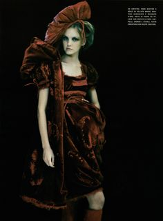 Christian Dior Spring 2005 Haute Couture    So Splendid and Magic Magazine: Vogue Italia Supplement March 2005 Photographer: Paolo Roversi Model: Caroline Trentini