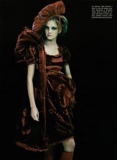 Christian Dior Spring 2005 Haute Couture    So Splendid and Magic Magazine: Vogue Italia Supplement March 2005Photographer: Paolo Roversi Model: Caroline Trentini