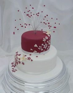 Love this cake! You can do so many different colors depending on the theme!!! prefect for teens (zebra print?) http://buildlicious.com/single-tier-wedding-cake-designs/wedding-cake-flowers-flowers-for-the-wedding-cake/