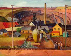 Northern Minnesota Mine by E. Dewey Albinson / American Art