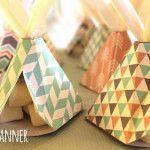 Teepee Favor Boxes from a Tribal Boho Birthday Party via Kara's Party Ideas   KarasPartyIdeas.com (1)