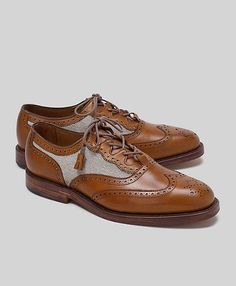 Leather and Linen Wingtip