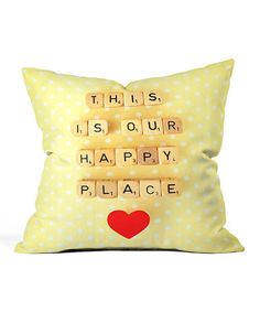 Another great find on #zulily! 'This is Our Happy Place' Throw Pillow #zulilyfinds