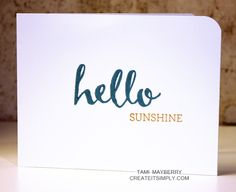 Say Hello to my new favorite stamp set | Create It Simply with Tami Mayberry