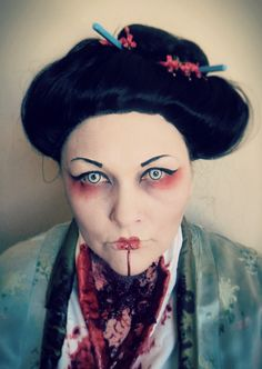 Halloween make up. Zombie Geisha By the best make up artist I know!