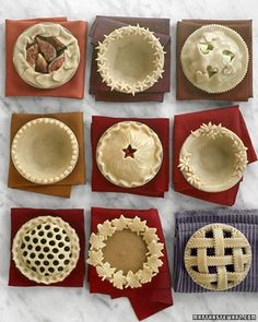Great ideas for pie crusts.