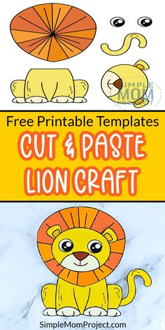 Get your free printable Lion craft today & watch your kids create their own jungle animal craft. With easy to follow cut and paste Lion craft instructions, this printable Lion will be king of the jungle in your house before you know it! Choose from our colored or plain template then join your toddlers as they design this awesome lion craft today - they're a great way to learn the Letter L or even as an art project for preschool. So grab your free printable Lion craft template today! Safari Animal Crafts, Jungle Crafts, Giraffe Crafts, Zoo Crafts, Animal Crafts For Kids, Fun Diy Crafts, Crafts For Kids To Make, Lion King Crafts, Lion Craft