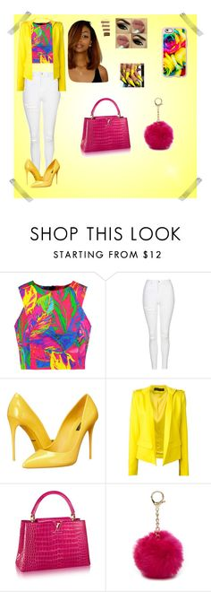 """""""Untitled #117"""" by treacey-pooh on Polyvore featuring Milly, Topshop, Dolce&Gabbana, Alexandre Vauthier, Nine West and Casetify"""