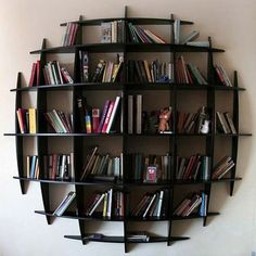 This Striking Bookcase Reminds Us Of A World Globe But Some May See It As  Half