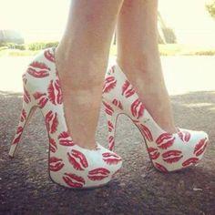 shoes high heels cute kisses