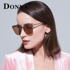 #FASHION #NEW Donna Fashion Cat Eye Sunglasses Women Mirror Gradient Color Lens Brand Designer Glasses For Lady Female D199