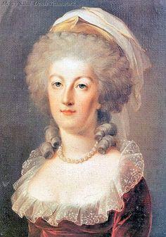 A portrait of queen Marie Antoinette in 1791, Unknown.