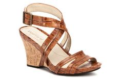 NEW Umberto Raffini Signature Collection, 'Willow'. Croc-printed straps, cork wedge heel, perfect for summer.
