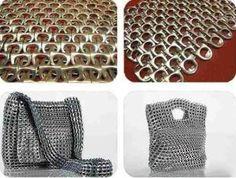 Que tal aprender a confeccionar a malha básica feita de lacres de latinha de alumínio? É com este artesanato padrão que você poderá elaborar diversas peças. Para aprender, confira: Você vai precisar de: Alicate de corte...