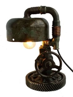"Table lamp ""Experienced Pilot"" vendor code 01-02 https://www.etsy.com/listing/477779233/retro-table-lamps-night-stand-lights Weight: 8.2 kg (18lb 1.25oz). Height: 38 cm (1 ft). Frame diameter: 20 cm (7.87in). Standards for bulb: E12, E14, E17, E26, E27. Wire length: 70 cm (2ft 3.56in). Switch: on the wire, at a distance of 15-30 cm (5.91 - 11.8in) from the lamp. Switch is put on the wire, at the customer's order at any distance from the lamp. A light bulb is not included in the kit. The…"