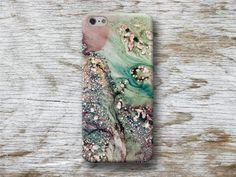 Handytaschen - Stein Marmor Granit iPhone 5 5C 6 6 7 Plus Hülle  - ein Designerstück von michaelcase bei DaWanda