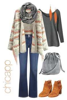 """Boho Touch"" by chicapp ❤ liked on Polyvore featuring Levi's, Warehouse, Old Navy and George J. Love"