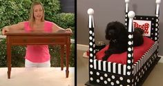 "I'm always on the lookout for a way to repurpose old furniture that's why I love this DIY project! The video below shows how to take an old end-table and ""upcycle"" it into a posh 4-poster dog bed! First you flip the table upside down. Then with some sanding, cutting and spray painting you will […]"
