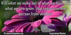 It is what we make out of what we have not what we are given that separates  It is what we make out of what we have not what we are given that separates one person from another  For more #brainquotes http://ift.tt/28SuTT3  The post It is what we make out of what we have not what we are given that separates appeared first on Brain Quotes.  http://ift.tt/2gfah7V