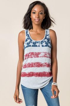 American Flag Graphic Tank