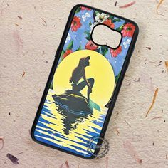Floral Moon Ariel The Little Mermaid - Samsung Galaxy S7 S6 S5 Note 7 Cases & Covers