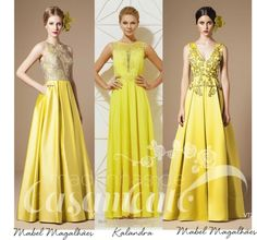 Madrinhas de casamento: Vestido de festa amarelo: madrinha e formanda!