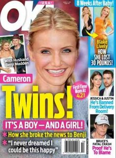 Cameron Diaz Pregnant. That is what the latest tabloid headlines read. Cameron Diaz pregnant with twins.