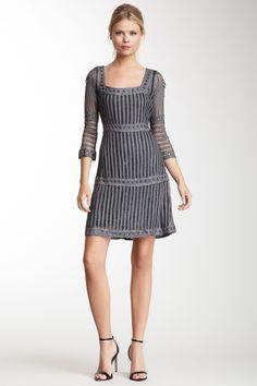 Papillon Bell Sleeve Crochet Dress