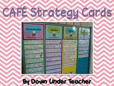 Reading strategy cards for CAFE--FREE