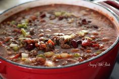 Wendy's Chili  (copy-cat) -  (There seem to be various versions of this copy-cat chili, this one with 13 ingredients. Only thing to do is pin a few and try them, I guess.)