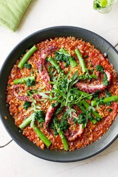 Asparagus & Octopus Paella