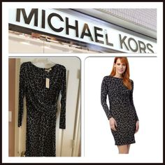 ✨Michael Kors Ellensburg Boatneck Dress✨ Jersey Dress features a figure flattering print, Classic Boatneck and long sleeves. Back zipper closure. 95% Polyester 5% Spandex. MICHAEL Michael Kors Dresses