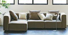 Unit Sofa | MUJI Sofa Bench, Wood Sofa, Muji Home, Nordic Living Room, Dining Sofa, 5 Seater Sofa, Beautiful Sofas, Sofa Legs, Sofa Frame