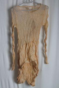 cocon.commerz PRIVATSACHEN PFLANZENTRÄGER Hemd aus Semiseide in apricot Größe 3 #nachhaltig seit 1984 #seide #leinen #linen #silk #handgefärbt  #shibori #hand-dyed
